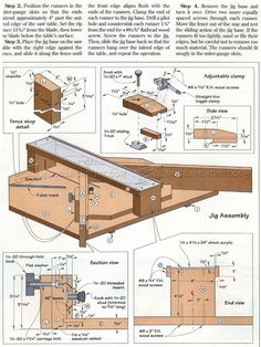 Table Saw Miter Jig Plans - Table Saw