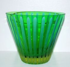 Art Deco Champagne Ice Bucket, Glass Ice Bucket, Frosted Glass, Christmas Glass