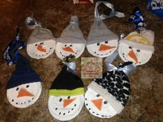 Snowman Jar Lid Ornaments from Living at the Whitehead's Zoo