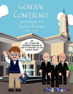 Free April 2018 LDS General Conference Activity Booklet for children ages 8 to 11. Activities include coloring pages, crossword, color by number, decoding, glyph, what's different, soduko, note taking, how a prophet is chosen information sheet, and more.