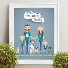 Have you seen close up of two dogs a post ago? Here is the whole custom illustrated portrait of 'Packers' fans by @nubeaxdesign.😊  He has one or two spots left for Christmas orders, so hurry up if you are looking for cute and funny personalized gifts!🎄🎁Your friends and relatives deserve it!☺