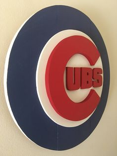 Chicago Cubs 3D Wood Logo by DMCdesignsShop on Etsy