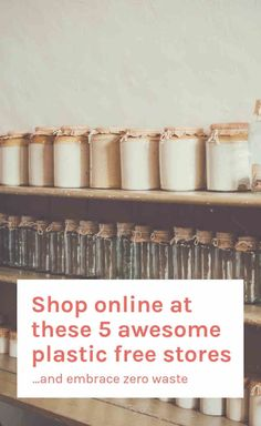 These awesome online stores sell everything you need from plastic bags to pretty jars, plant based skincare to organic pulses. Let's get shopping. For information on daily bargains, please click the link. No Plastic, Plastic Bags, Plastic Spoons, Plastic Canvas, Zero Waste Store, Budget, Sustainable Living, Just In Case, Eco Friendly