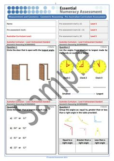 Shape  Pre Ausvels Assessment   Sample  Essential