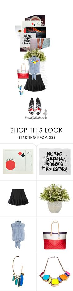 """""""2O24.We are super heroes + rockstars"""" by silvinadupuywriter ❤ liked on Polyvore featuring DENY Designs, Nearly Natural, Nicholas Kirkwood, Coach and beautifulhalo"""
