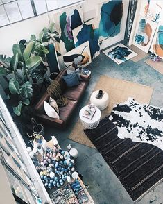 Sweet Spot Style Tip: Fill your place with art  plants like @heatherdayart.  Really you cant go wrong.