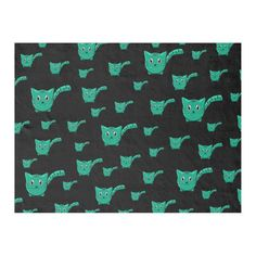 Shop Black & Green Kitty Pattern Fleece Blanket created by thepawkinglot. Picnic In The Park, Creature Comforts, Edge Stitch, Pet Shop, Kittens Cutest, Cuddling, Colorful Backgrounds, Plush, Kitty
