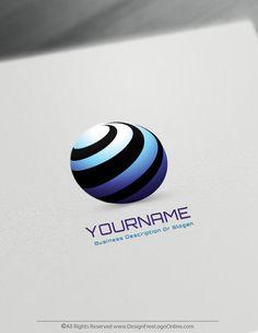 Free Logo Maker – 3D Round Spiral Logo Design Template