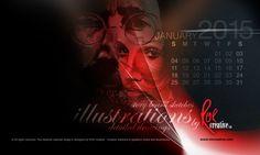 January calendar desktop design featuring illustrations by ROR creative