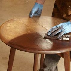 Everything you need to know to repair and refinish furniture without stripping, from The Family Handyman