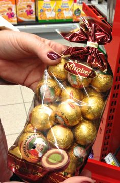 Pick up these souvenir Mozart balls at the local supermarket in Austria. We list our favorite Austrian supermarket finds.