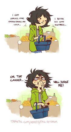 Fail by Error :: Grocery judgement   Tapastic Comics