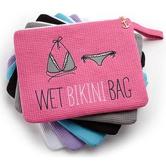 Bikini Bag - such a good idea so you don't get anything else in your beach bag wet. But labeled differently!