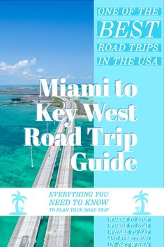 Epic Miami to Key West Road Trip Guide to Key West guide. Everything you need to know to plan your road trip. One of the best road trips in the USA. Use this to find the best places to eat, stay and the top things to do along your drive to Key West. Florida Keys Map, Key West Florida, Florida Keys Camping, South Florida, South Carolina, Visit Florida, Florida Vacation, Florida Travel Guide, Florida Trips
