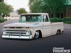 1966 Chevy C-10 laying frame.