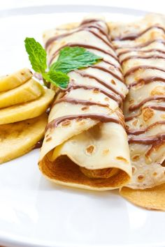 Chocolate Hazelnut Fruit Crepes Dessert Recipe