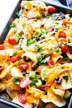 This is a sponsored conversation written by me on behalf of Save-A-Lot. The opinions and text are all mine. Ultra filling, and super easy, these Sheet Pan Chicken Nachos are the real winner for the big game. Crunchy chips, melty cheese, flavorful chicken, and all the toppings make these a hearty, filling, game time favorite! Perfect for a crowd, and won't cost you a fortune. I don't know about your Big Game plans, but we tend to throw a party, or attend one. We recently moved, and since we…