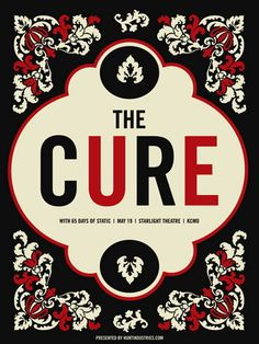 The Cure Concert Poster by Vahalla Studios