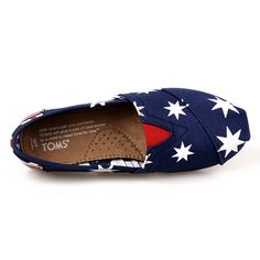 #Toms Womens #Rubber Sole Slip Ons Blue