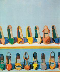 Wayne Thiebaud,Shoe Rows, 1975
