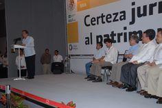 El Secretario de la Reforma Agraria participó en la entrega de títulos de tierras y certificados parcelarios en Veracruz.