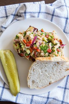 Italian Chicken Salad Sandwiches have crunch, color, and a tangy dijon vinaigrette.