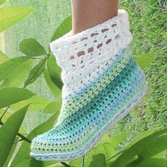 Instant Download Crochet Pattern Cuffed Boots for by Genevive