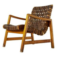 The Latest Teak Lounge Leather Weaving Chair Adirondack Chairs For Sale, Ashley Furniture Chairs, Furniture Making, Sheesham Wood Furniture, Retro Armchair, Outdoor Chairs, Outdoor Furniture, Woven Chair, Chairs