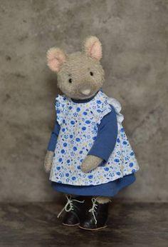 Celestine in blue dress Artist Teddy OOAK by By Tatyana Khoroshun   Bear Pile