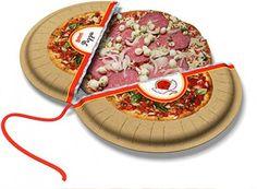 Desain Kemasan Pizza Unik Menarik Inspiratif - Gambar-Foto-Desain-Box-Kemasan-Pizza-berbentuk-unik-bulat-dibuka-dari-tengah