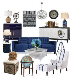 """See the world..."" by silverlime2013 on Polyvore featuring interior, interiors, interior design, home, home decor, interior decorating, Worlds Away, Bungalow 5, Dot & Bo and Yosemite Home Décor"