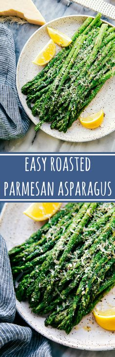 The BEST easy oven roasted parmesan asparagus