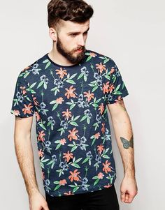 Image 1 ofBellfield T-Shirt with Large Flower Print