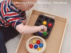 Übungen der Feinmotorik, Übungen des praktischen Lebens, Lernanregungen für Kleinkinder, Spielideen für Kleinkinder