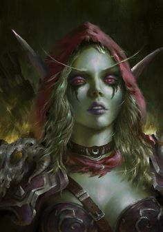 Sylvanas Windrunner by Indiron banshee queen World of Warcraft elf fighter ranger sorcerer wizard warlock sorceress witch armor clothes clothing fashion player character npc | Create your own roleplaying game material w/ RPG Bard: www.rpgbard.com | Writing inspiration for Dungeons and Dragons DND D&D Pathfinder PFRPG Warhammer 40k Star Wars Shadowrun Call of Cthulhu Lord of the Rings LoTR + d20 fantasy science fiction scifi horror design | Not Trusty Sword art: click artwork for source
