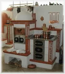 kachelofen - Google Search Dutch Kitchen, Old Kitchen, Sweet Home, Vintage Stoves, Antique Stove, Outdoor Oven, Eclectic Kitchen, Wood Fired Oven, Kitchen Stove