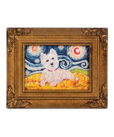 Take a look at this West Highland White Terrier Van Growl Framed Canvas by Pavilion Gift Company on #zulily today!