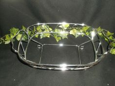 $9.96 or best offer Casserole Stand Metal Chrome Pyrex Dish Holder #Unbranded