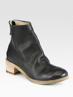 Marsell Leather Ankle Boots.