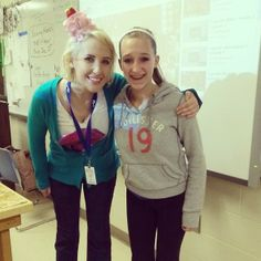 Amanda Cupcake Queen with really happy student at Waupaca High School!