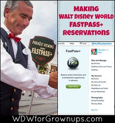 Making Walt Disney World FastPass+ Revervations on My Disney Experience