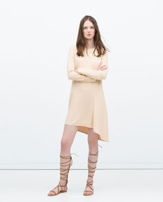 STUDIO DRESS AND ASYMMETRIC HEM-View all-Dresses-WOMAN | ZARA United States