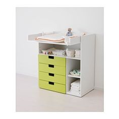 STUVA Table à langer 4 tir, blanc, vert - 90x79x102 cm - IKEA