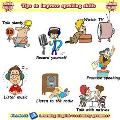 List of ways to improve your speaking English skills