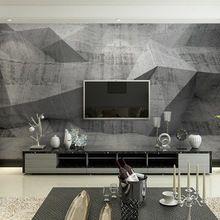 Egyedi falfestmények papel de Parede moderno 3d szürke kőfal fotó tapéta freskó a nappali szoba kanapéval tv háttér dekoráció (Kína (szárazföld))
