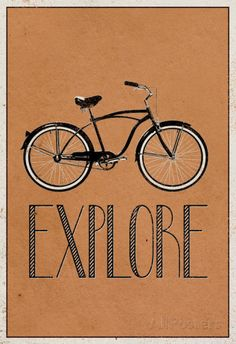 Cute and simple posters are the best for any room.  Explore Retro Bicycle Player Art Poster Print Posters at AllPosters.com