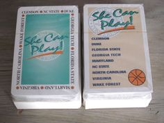 ACC Womens College Basketball Playing Cards 2 Packs Sealed She Can Play Clemson