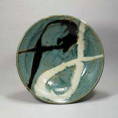 《青釉白黒流描 大鉢》 1951年頃