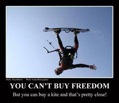 Kitesurfing & freedom