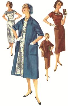 Sheath Dress Pattern Coat 2 Lengths Simplicity Vintage 1950s Misses Size14 Bust 32 Inches by SelmaLee on Etsy https://www.etsy.com/listing/195446602/sheath-dress-pattern-coat-2-lengths